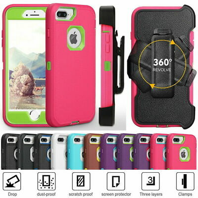 Armor Heavy Duty Shockproof Hybrid Case Combo Cover For Apple iPhone 6/7/8 Plus