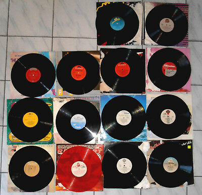 RECORDS BULK LOT 14 x ORIGINAL VINYLS  - (WATER DAMAGED RECORD COVERS ONLY)