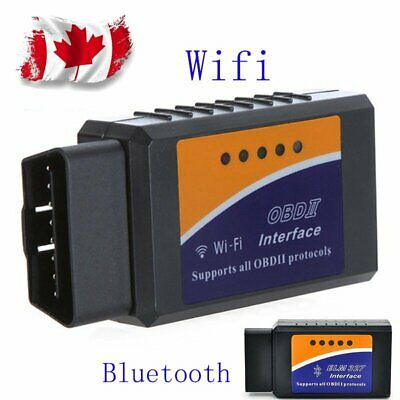 WiFi Or Bluetooth OBDII Car Diagnostic Scanner Code Reader Tool ELM327 Canada