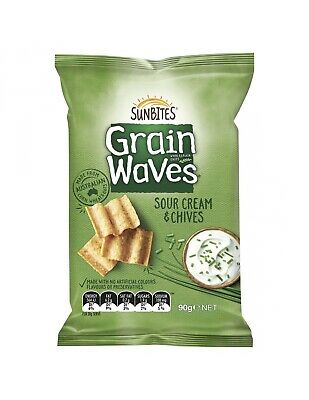 Grain Waves Sour Cream And Chives 90g x 15