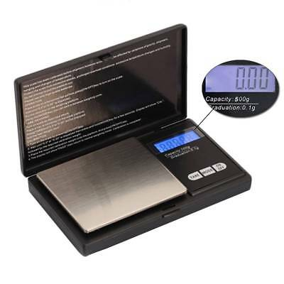 New Mini Pocket Digital LCD Display Gold Weighing Pans Scales 100g/200g/500g