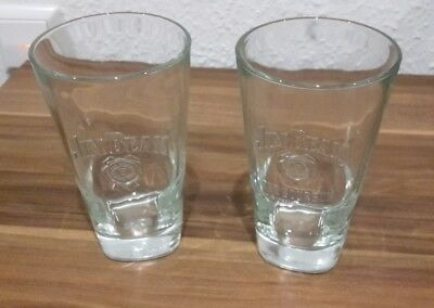 "Set 2x Whiskey/Whisky-Glas ""Jim Beam (Bourbon)"" Tumbler Long-Drink cl mit Relief"