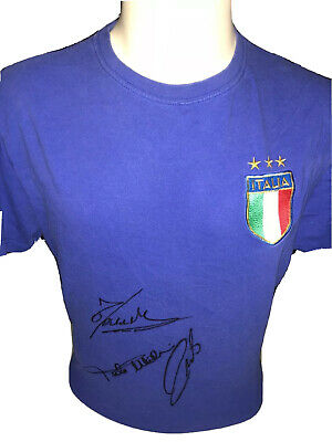 Signed Retro Pirlo Cannvaro Maldini Rare Italy Home Shirt Legends