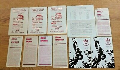 Morley Rugby Union Programmes 1965 - 1997