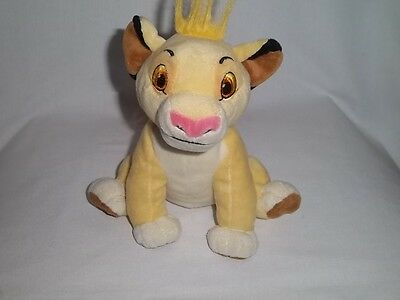 DISNEY STORE Plush SIMBA BEAN BAG Sitting The LION KING Soft Stuffed Animal Toy