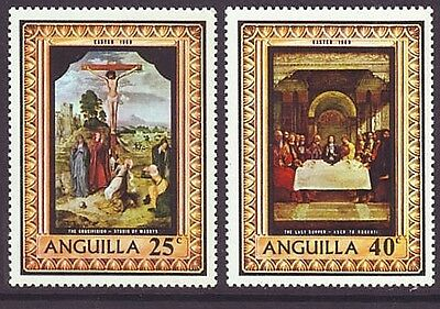 Anguilla 1969 SC 68-69 MH Set Easter