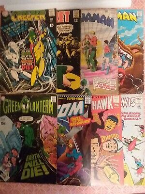8 Silver Age Dc Lot Key Aquaman! Movie Soon. No Reserve! About$3.00 Each Cheap!