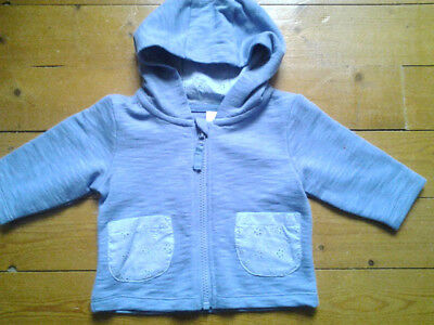 NEXT Baby Girls Spring Light Weight Blue Hooded Jacket Age 3-6 Months BNWT