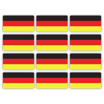 German Germany Flag Laminated Stickers Small 12x 45x22mm Decals