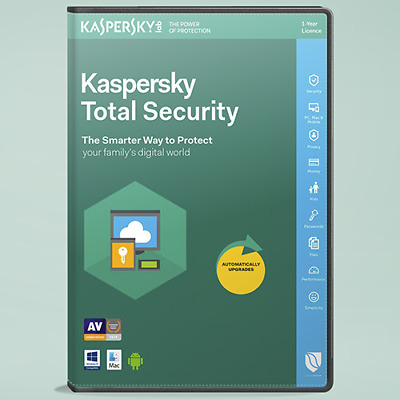 Kaspersky Total Security 2018 1-2-3-5-10 pc/devices 1 year Antivirus PC/MAC