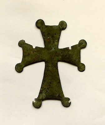 Byzantine Large Bronze Cross.  Excellent Piece Of Art!