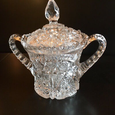 Antique American cut Crystal Bowl 3.75 lbs