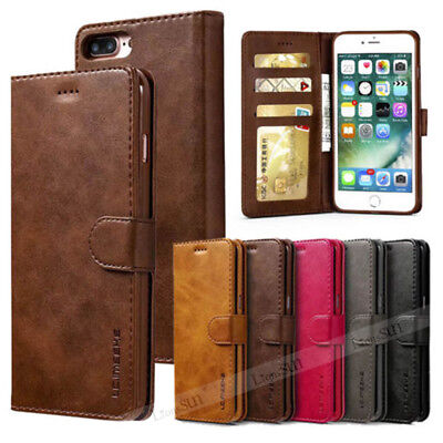 For iPhone SE 6s 7 8Plus XR XS Max Leather Wallet Magnetic Flip Case Cover Stand