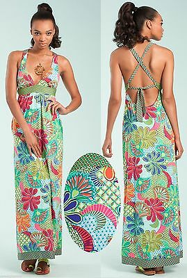 aa6a919004c  180 Trina Turk Zanzibar Halter Stretch Jersey Maxi Long Cover Up Dress