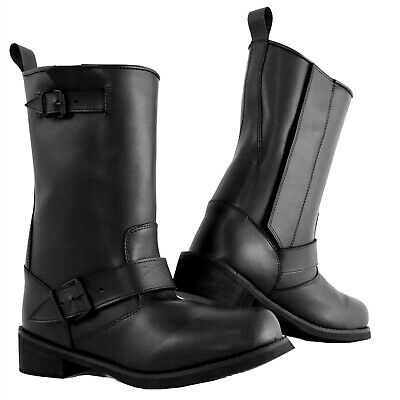 Custom Chopper Moto Boot Botas Impermeable Calzado Piel Camperos