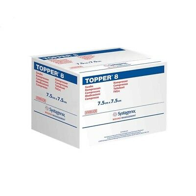 Sterile Gauze Swabs 7.5cm x 7.5cm Topper 8.Top Brand Various Quantities.