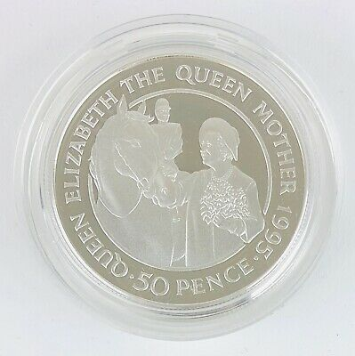 1995 St HELENA LTD ED ELIZABETH QUEEN MOTHER SILVER PROOF 50p FIFTY PENCE COIN