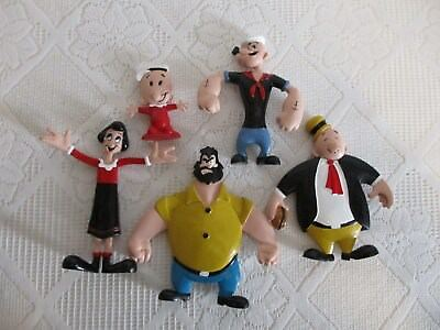 Popeye Lot of 5 Poseable/Bendable Rubber Figures KFS Hearst All different EUC**
