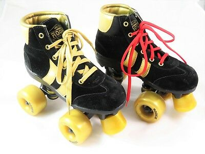 Rookie Authentic Black/Gold Rollerskates, Rollschuh, NEU, OVP