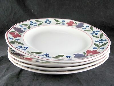 "4 Adams Old Colonial Salad Plates, 8-1/8"", floral"