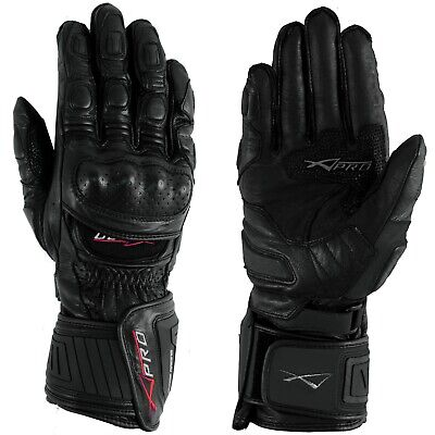 Protective Racing Cruiser Motorcycle Motorbike Quality Gloves A-PRO Black XS