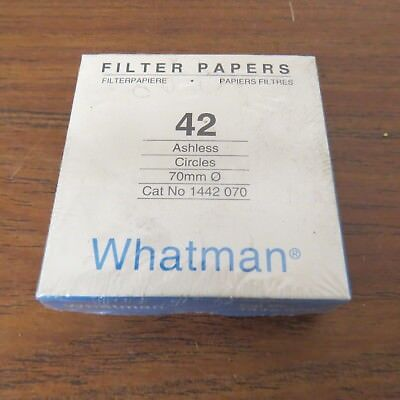 + Whatman 1442-070 Ashless Quantitative Filter Paper, 70mm Diameter 100pk