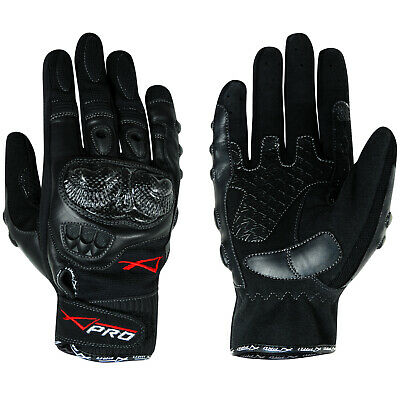 Short Protective Sport Racing Textile Leather Motorcycle Motorbike Gloves XXL