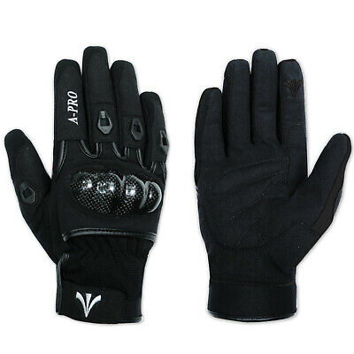 Textile Motorcycle Motorbike Scooter Sport Protective Gloves Sonicmoto Black XXL