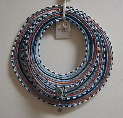 "African Maasai Beaded Necklace 3 piece, 10"" & 8"" and 7"" outside diameter NR"