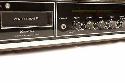 Emerson Solid State 8 Track Receiver Player Am Fm Stereo Excellent Vintage