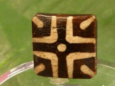 ANCIENT PUMTEK PYU TABULAR BEAD 20.3 diag. BY 7 MM HIGH CONTRAST TOP QUALITY