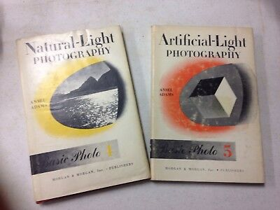 Artificial And Natural Light Photography, Ansel Adams, 2 Books