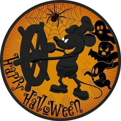 2017 Nieu 2$ Steamboat Willie Mickey Mouse Halloween Orange 1Oz 999 Coin