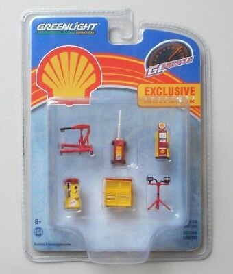 Shell Garage Accessories New Release 2018 Suit Diorama Scale 1/64 Plastic New
