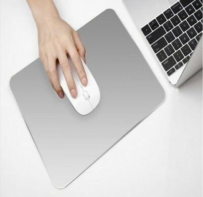 PU Aluminum alloy Pad Mousepad Gaming Mat Mouse for Macbook Apple HP Dell
