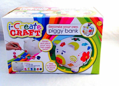PIGGY Bank Coin Money Cash Collectible Ceramic Savings Pig Toy Safe Box Craft