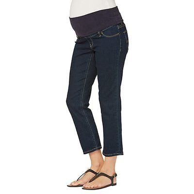 NEW Maternity Denim Cropped Jeans Size 6