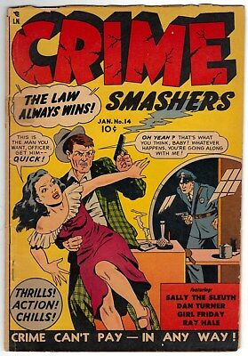 Crime Smashers # 14 ~ January, 1953 ~ Trojan ~ Dan Turner ~ Good, or so
