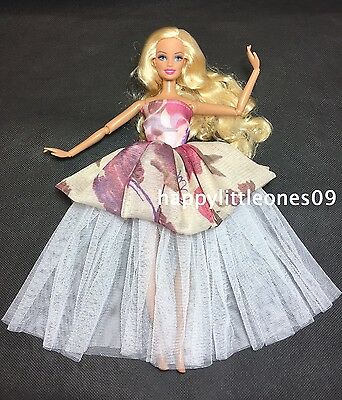 Barbie Doll Wedding Party Evening Dancing Dress/Clothes/Outfit Brand New Lovely
