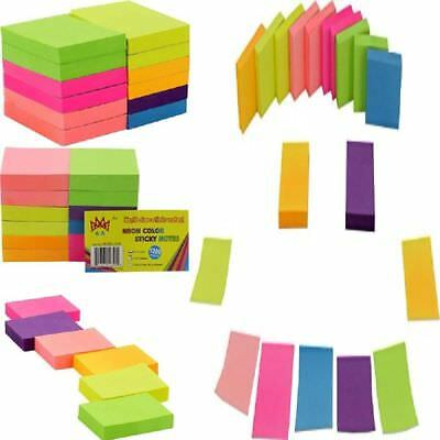NEW 100 Sheets Post-It Neon Color Sticky Notes 1200 Memo Reminder 12 Pads