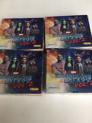 4 Displays Panini Traiding Cards Marvel Guardian of the Galaxy Vol. 2