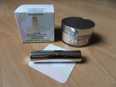 CLINIQUE blended face powder and brush 03 transparency 3 (MF/M) 35g *NEU+OVP*