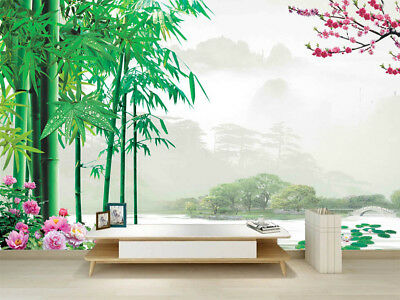 Misty Tidy Valley 3D Full Wall Mural Photo Wallpaper Printing Home Kids Decor