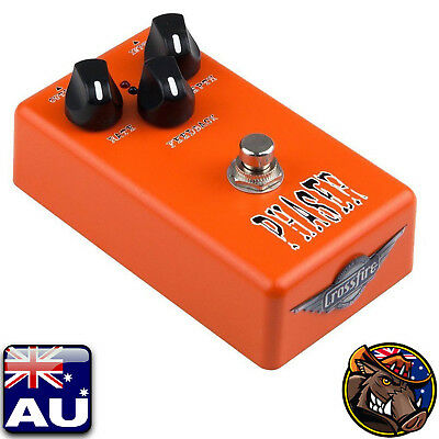 New Crossfire Phaser Electric Guitar Effects Pedal FX