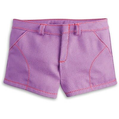 "* AMERICAN GIRL 18"" SHORTS Purple Play with Hanger for doll - NEW IN BAG NIB"