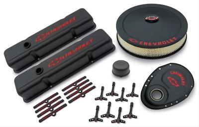 Chevy Small Block 283-400 58-86  383 stroker 327 dress up kit black 58-86 Bowtie