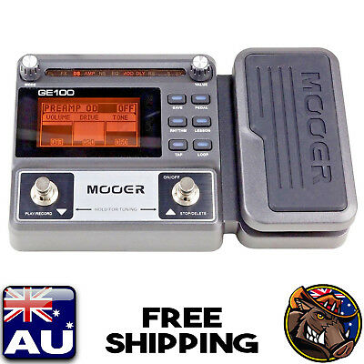 New! Mooer Mep-Ge100 Guitar Multi-Effects Processor Pedal With Expression Pedal