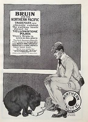 1904 Ad (F20)~Northern Pacific Railway To Yellowstone Park