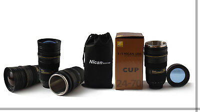 New Version Coffee Cup For Nikon Fans AF-S NICAN 24-70mm Thermos Camera Lens Mug