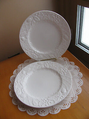 Mikasa English Countryside LOT 2 White Embossed Salad Plate & MIKASA ENGLISH COUNTRYSIDE WHITE Dinner Plate 373562 - $13.99 ...